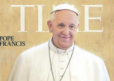 Papa Francisco eleito figura do ano pela revista Time