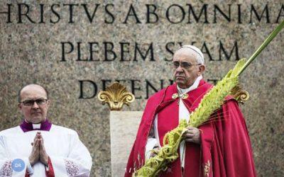 Papa inicia Semana Santa com apelos a exame de consciência sobre atitude de cada católico face a Jesus