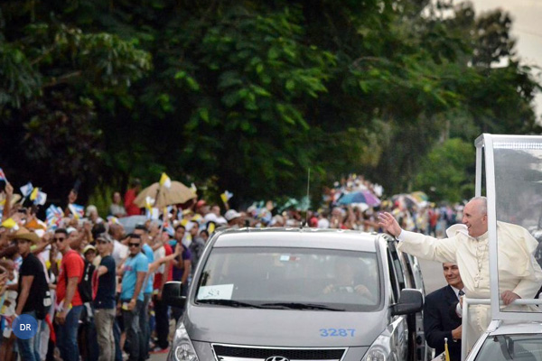 100 mil pessoas acompanharam o Papa nas ruas de Havana