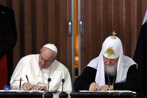 Declaração em 30 pontos aproxima católicos e ortodoxos russos