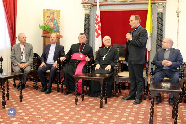 Açorianos recebidos no Patriarcado Latino de Jerusalém