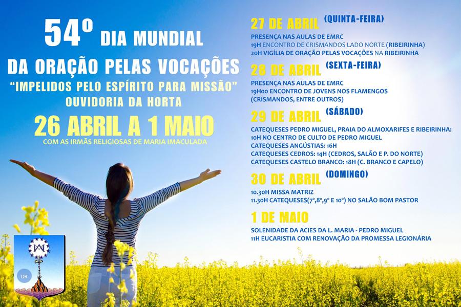 Semana da Oração pelas Vocações na ouvidoria da Horta marcada pelo testemunho de duas religiosas de Maria Imaculada