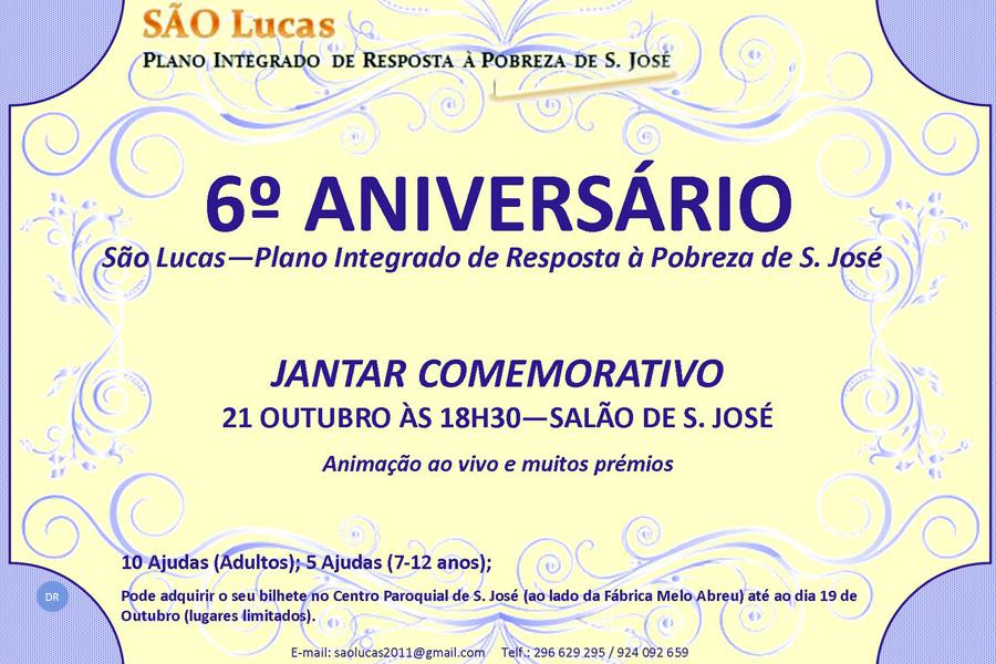 Plano São Lucas comemora seis anos com jantar de angariação de fundos