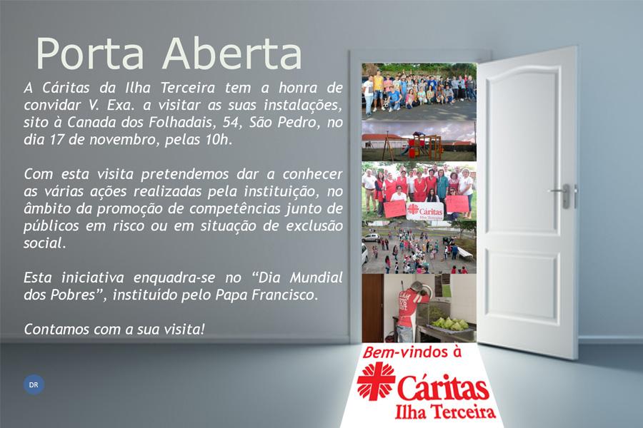 Cáritas da ilha Terceira promove `Porta Aberta´