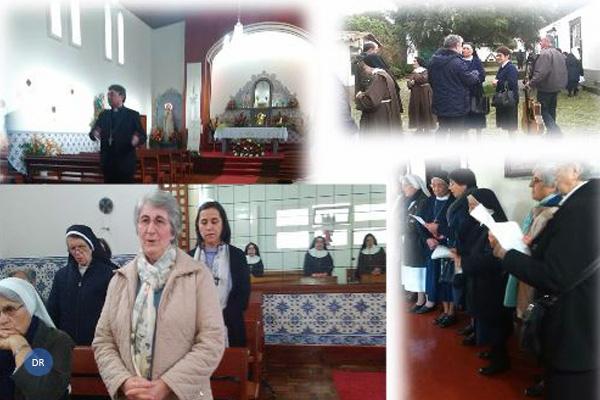 Congregações religiosas visitam convento de clausura em São Miguel para cantar as janeiras