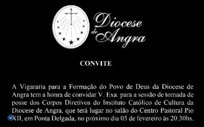 Corpos diretivos do Instituto Católico de Cultura tomam posse no próximo dia 5