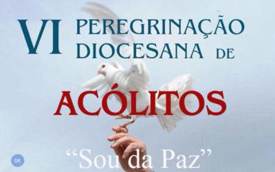 Jovens acólitos reunidos em peregrinação diocesana na Graciosa
