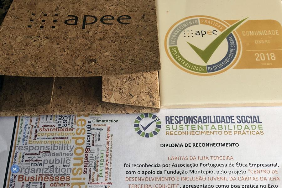 Centro de Desenvolvimento e Inclusão Juvenil da Cáritas da Ilha Terceira recebe reconhecimento nacional de boas práticas de Responsabilidade Social