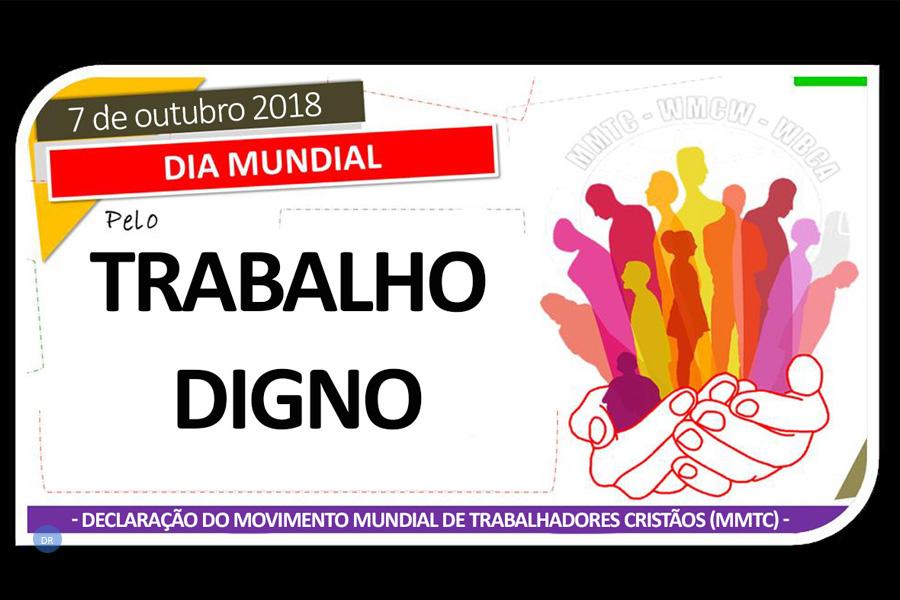 Trabalhadores Cristãos associam-se à «Jornada Mundial pelo Trabalho Digno»