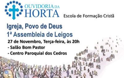 """Faial organiza primeira Assembleia de Leigos para refletir sobre como vive a temática conciliar """"Igreja Povo de Deus"""""""