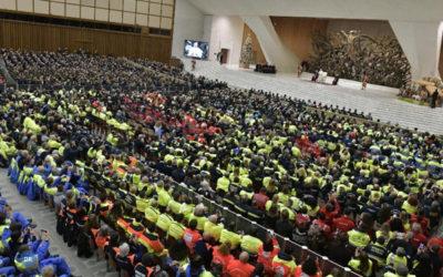 """Papa afirmou a importância da """"educação"""" na missão do Serviço de Proteção e Defesa Civil"""