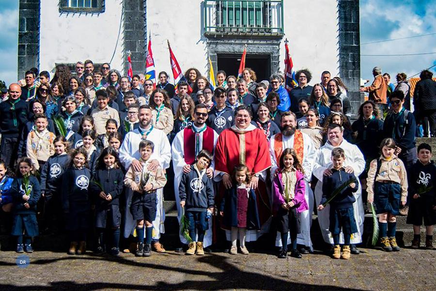 Dia Mundial da Juventude no Pico reuniu escuteiros em ambiente de festa