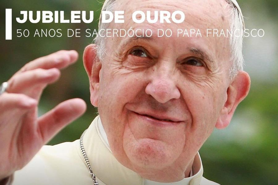 Papa celebra 50 anos de ordenação sacerdotal