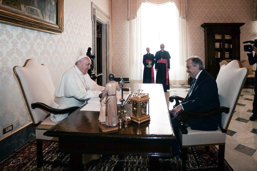 Papa e António Guterres gravam mensagem conjunta contra a indiferença, a intolerância religiosa e a destruição do planeta