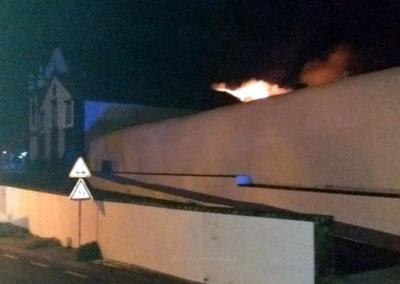 Incêndio na Igreja de Santa Ana no Capelo na ilha do Faial