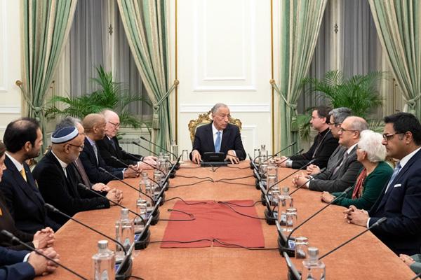 Presidente da República recebeu líderes de confissões religiosas presentes em Portugal