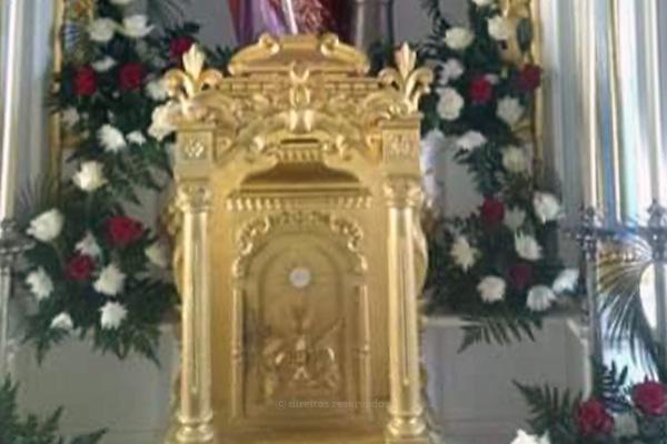 Sacrário da Igreja de Santa Bárbara de Ponta Delgada vandalizado