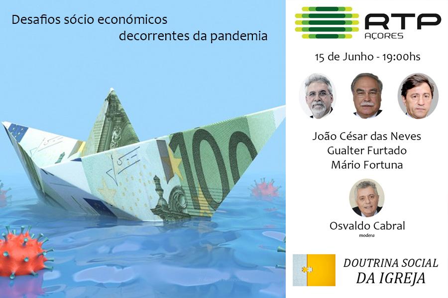 Instituto Católico de Cultura promove segunda conferência na RTP Açores sobre as consequências sociais e económicas da pandemia