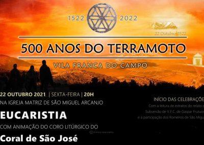Igreja Matriz de Vila Franca recebe primeira celebração que faz memória do terramoto que há 500 anos