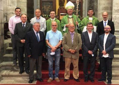 Nove candidatos ao diaconado permanente já estão em formação e foram apresentados à diocese este domingo